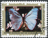 Postage stamp printed in Equatorial Guinea, shows butterfly — Stock Photo