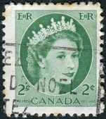 Postage stamp printed in Canada, shows Queen Elizabeth II — Stock Photo