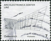 Postage stamp printed in Austria, shows the Ars Electronica Centre Linz — Stock Photo