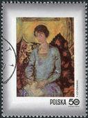 Postage stamp printed in Poland, shows Woman with book, by Tytus Czyzewski (1885-1945) — Stock Photo