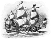 Warship HMS Sovereign of the Seas, 1637. — Stock Photo