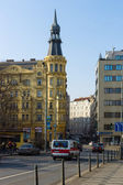 The streets of old Prague. Charles Square. Prague is the capital and largest city of the Czech Republic — Stock Photo