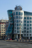 A modern landmark in Prague, Dancing House or Fred and Ginger. Architects Vlado Milunic and Frank Gehry. — Stock Photo