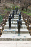 The Memorial to the victims of Communism. Sculptor Olbram Zoubek, architects Jan Kerel and Zdenek Holzel. — Stock Photo