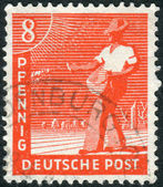 Postage stamp printed in Germany, shows the sower — Stock Photo