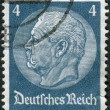 Postage stamp printed in Germany (German Reich), shows the 2nd President of Germany, Paul von Hindenburg — Stock Photo #44722669