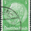 Postage stamp printed in Germany (German Reich), shows the 2nd President of Germany, Paul von Hindenburg — Stock Photo #44722701