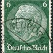 Postage stamp printed in Germany (German Reich), shows the 2nd President of Germany, Paul von Hindenburg — Stock Photo #44722787