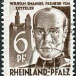 Postage stamp printed in Germany (Rhineland-Palatinate, French occupation zone), shows Wilhelm Emmanuel Freiherr von Ketteler — Stock Photo