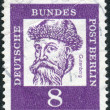 Postage stamp printed in Germany, shows portrait of Johannes Gutenberg — Stock Photo #44723023