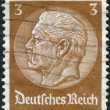 Postage stamp printed in Germany (German Reich), shows the 2nd President of Germany, Paul von Hindenburg — Stock Photo #44723093
