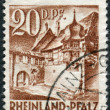 Postage stamp printed in Germany (Rhineland-Palatinate, French occupation zone), shows a Street Corner, Sankt Martin — Stock Photo #44723429