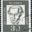 Postage stamp printed in Germany, shows portrait Immanuel Kant — Stock Photo #44723581