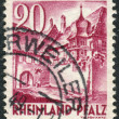 Postage stamp printed in Germany (Rhineland-Palatinate, French occupation zone), shows a Street Corner, Sankt Martin — Stock Photo #44723953