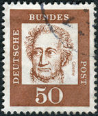Postage stamp printed in Germany, shows portrait of Johann Wolfgang von Goethe — Stock Photo