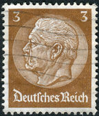 Postage stamp printed in Germany (German Reich), shows the 2nd President of Germany, Paul von Hindenburg — Stock Photo
