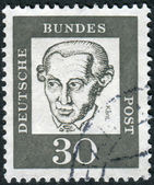 Postage stamp printed in Germany, shows portrait Immanuel Kant — Stock Photo