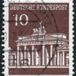Postage stamp printed in Germany, shows Brandenburg Gate, Berlin — Stock Photo