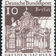 Postage stamp printed in Germany (West Berlin), shows Wall Pavilion, Zwinger, Dresden — Stock Photo #44785491