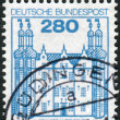 Postage stamp printed in Germany, shows Ahrensburg Castle — Stock Photo #44785533