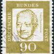 Postage stamp printed in Germany, shows portrait Franz Oppenheimer — Stock Photo #44785619