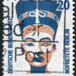 Postage stamp printed in Germany, shows Queen Nefertiti of Egypt, bust, Egyptian Museum, Berlin — Stock Photo