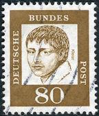 Postage stamp printed in Germany, shows portrait of Heinrich von Kleist — Stock Photo