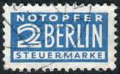 Postage Tax Stamp printed in Germany (West Berlin), Berlin emergency levy (Notopfer Berlin) Issue, shows face value — Stock Photo