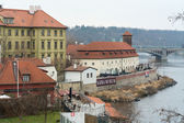 Museum of the famous writer Franz Kafka, on the embankment of the Vltava river — Stock Photo
