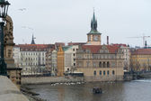 The Smetana Museum (Muzeum Bedricha Smetany), the view from the famous Charles Bridge on the Vltava River — Photo