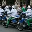 Постер, плакат: Police escort on motorcycles Ensuring the safety of VIPs