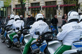 Police escort on motorcycles. Ensuring the safety of VIPs — Stock Photo