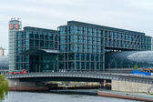 Berlin Central Station. The central station of Berlin - the largest and modern railway station of Europe — Stock Photo