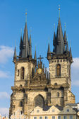 The Church of Mother of God in front of Tyn. The Old Town of Prague. — Photo