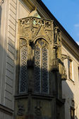 Bay window. Detail of an old house. Prague, Czech Republic — Stock Photo