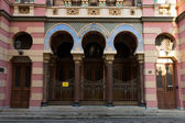 The Jerusalem Synagogue (Jubilee Synagogue). Prague, Czech Republic — Stock Photo