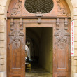 Vintage entrance gate in Old Town of the Prague. — Stock Photo