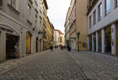 The old streets in the historic center of the Old Town of the Prague. — Stock Photo