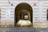 The streets in the historic center of New Town of the Prague. — Stock Photo