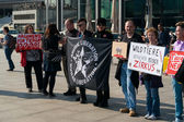 Sociedad de protección animal de activistas protesta de berlín contra el uso de animales salvajes en el circo — Foto de Stock