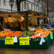 Sales on the street fresh fruits and vegetables in the old town of Potsdam. City on the eve of Christmas — Stock Photo #45806375