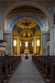 Interior of the Roman Catholic Church of St. Peter and St. Paul. Built in 1870, renovated in 1950. — Stock Photo