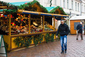 Traditional Christmas market in the old town of Potsdam. — Stock Photo