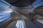 Ceiling coving in the Gothic style, St. Mary's Church (Marienkirche) at Alexanderplatz. — Foto Stock