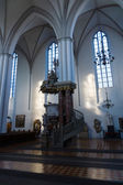 Fragment of interior of St. Mary's Church (Marienkirche) at Alexanderplatz — Stockfoto