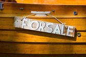 """Old wooden frame with the inscription """"For Sale"""" — Stock Photo"""