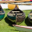 Sport boats, kayaks and canoes at the marina. — Stock Photo #46283577
