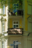 Detail of the facade of a house in the prestigious area of Berlin - Grunau. District Treptow-Koepenick. — Stock Photo