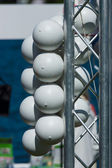 Restrictive buoys in the form of balls. — 图库照片