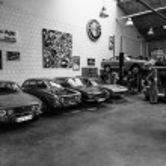 Restoration workshop of Italian cars — Stock Photo #48162855